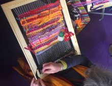 Weaving workshops at Maker Faire UK 2018